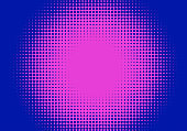 Pop art styled halftone retro background with comic dots
