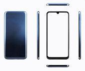 Dark blue generic smartphone
