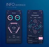 Mobile infographics template