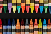 Set of craft wax crayons