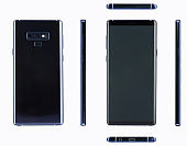 Mockup of new modern smartphone with buttons