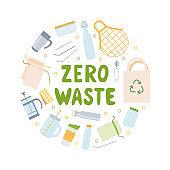 Zero waste round concept