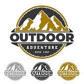 Adventure badge emblem, mountain badge emblem, outdoor life