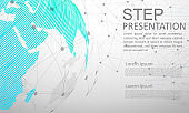 Modern vector abstract step lable infographic elements.can be used for global network connection. World map point and line.vector Illustration