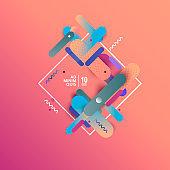 Dynamic geometric background