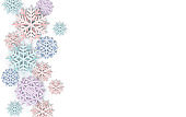 Vector cover with Paper cut art Snowflakes. Layered realistic snow flake winter 3D icons. Xmas, New Year header, business greeting card, invitation, article