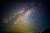 Beautiful milky way galaxy on dark night sky background