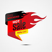 Hot sale banner template design for business promotion