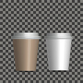 Coffee Cups on transparent background.