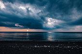 Beautiful ocean panorama