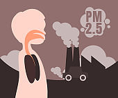 Air pollution warning dangerous levels.
