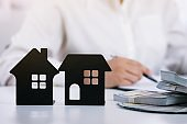 Signing contract making a deal with real estate agent Concept for consultant and home insurance concept.