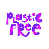 Plastic free cartoon lettering