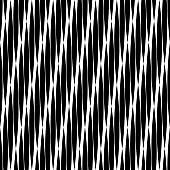 Trendy seamless pattern designs. Black-and-white figures from stripes.