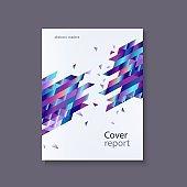 Vector trendy vibrant gradient report cover