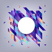 Vector trendy vibrant gradient background template