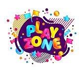 Isolated cartoon vector illustration of play zone.