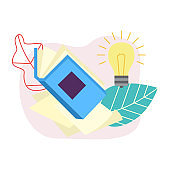 Vector flat opened book icon
