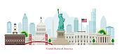 United States of America, USA, Landmarks, Skyline and Skyscraper
