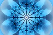 Blue negative network fractal concept