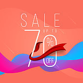 Sale banner minimal template design, Big sale special up to 70% off. Super Sale, end of season special offer banner. vector illustration.