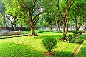 Traditional Vietnamese garden at the Temple of Literature, Hanoi