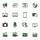 social mass media icon set