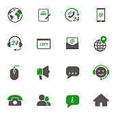 contact us vector icons