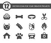 pets icon set. pets web icons for your project
