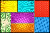 Comic book colorful composition