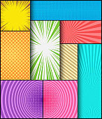 Comic abstract background