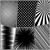 Comic monochrome design template
