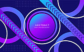 Trendy blue and purple gradient color geometric background