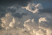 Dramatic sky with stormy clouds, Sky with clouds weather blue nature cloud.