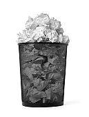 paper ball trash bin rubbish garbage wastepaper