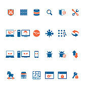 Cyber, Internet Security Icons