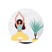 Creative website template design for Yoga Studio Home