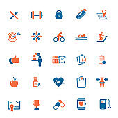 Fitness & Workout - set of vector icons