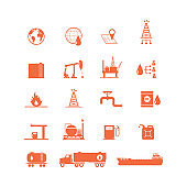 Oil Industry- oil and petrol icon set