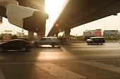 CCTV surveillance camera operating on traffic road