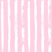 Vector ink and paint textures set on pink background. Grungy hand drawn vertical stripes, decorative background