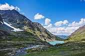lake Kuiguk. Altai Mountains landscape