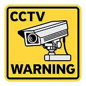 Surveillance CCTV video camera sign