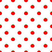 Vector seamless pattern with tomato. Seamless pattern.