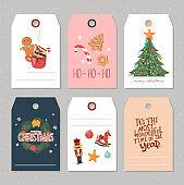 Christmas greeting gift tag collection