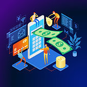 Mobile banking Web Banner