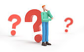 thinking with a question mark