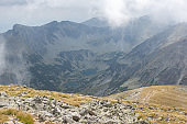 Panorama from Musala peak, Rila mountain, Bulgaria