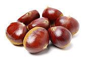 Sweet chestnut on white background