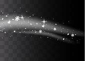 White sparks light